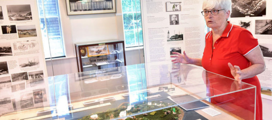 Museum Exhibit visited by Newport Daily News