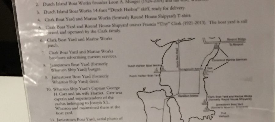 Library Exhibit – July 2017: Conanicut Island Boat Yards