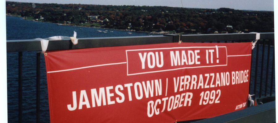 Library Exhibit – October 2017: 25th Anniversary – Jamestown -Verrazzano Bridge