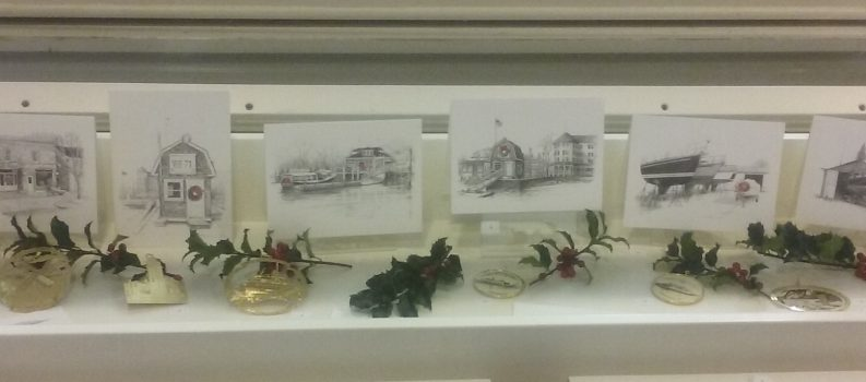 Library Exhibit – December 2017: Ornaments & Holiday Cards