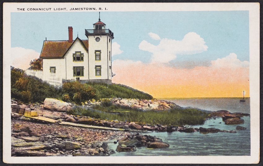 Library Exhibit, October 2020 Jamestown Lighthouses