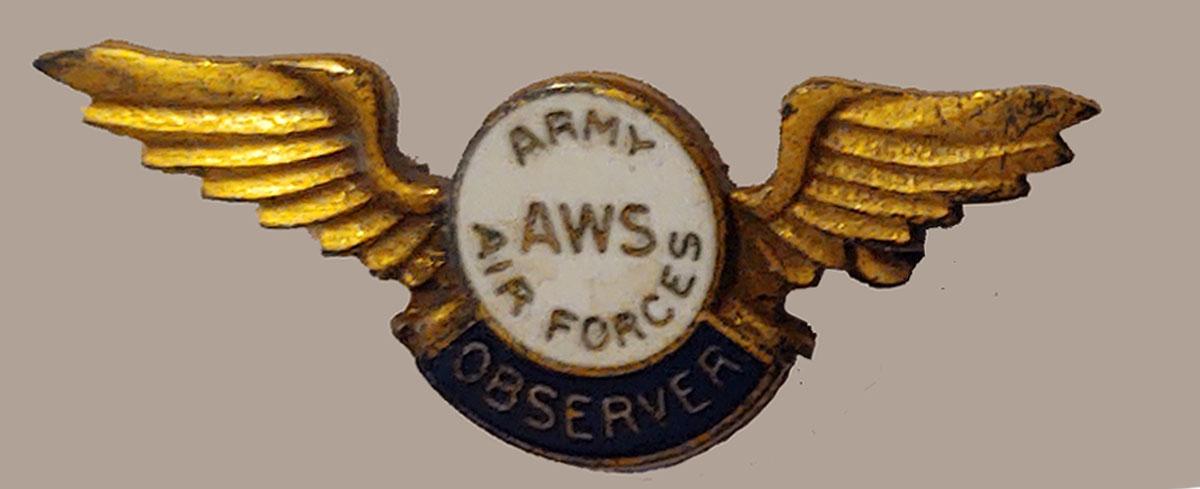 civilian aircraft observers pin