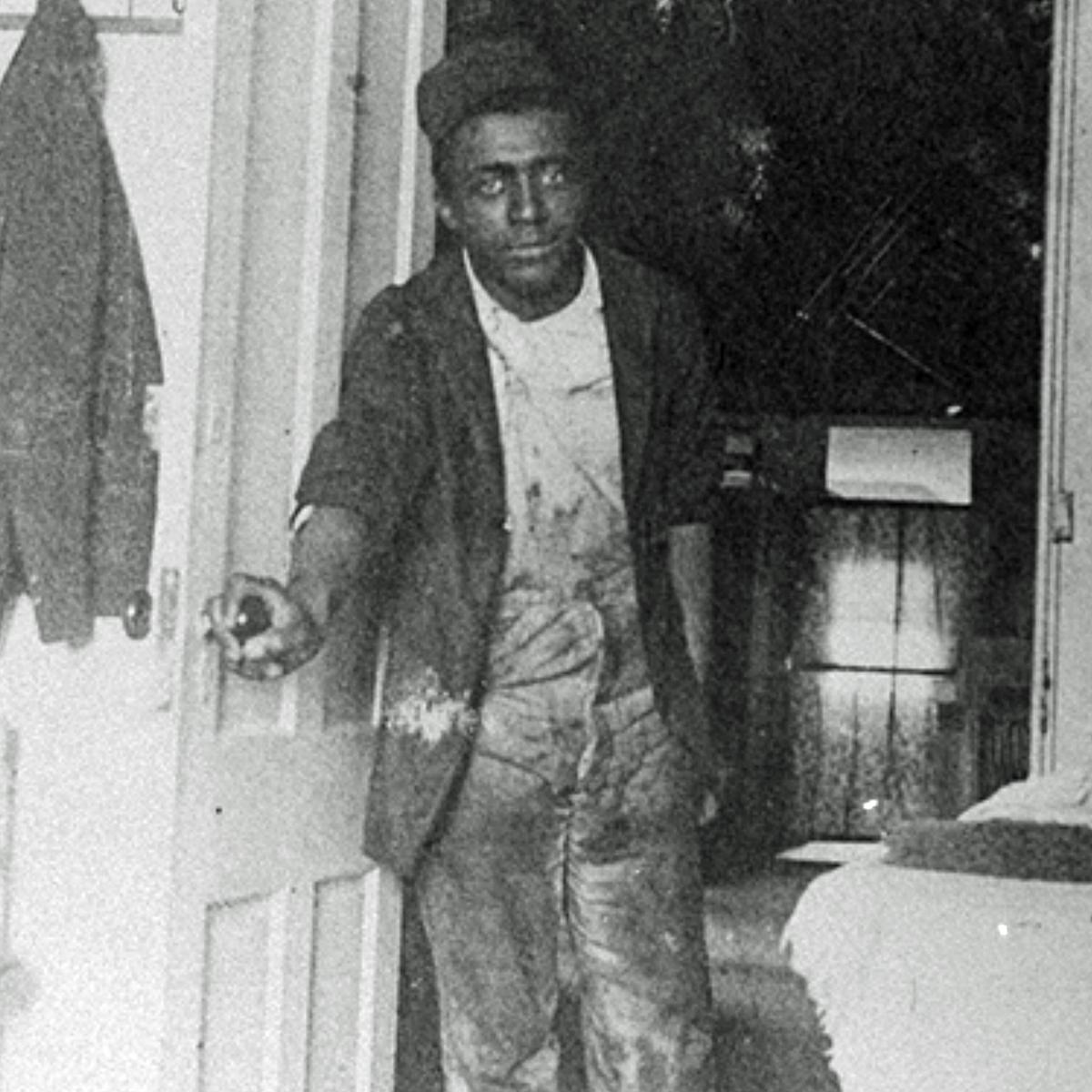man at doorway