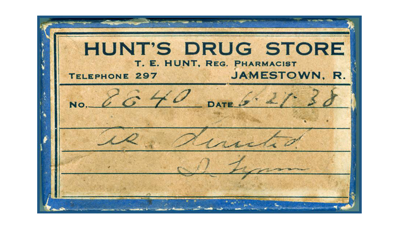 From the Collection – Pill Box From Hunt's Drug Store